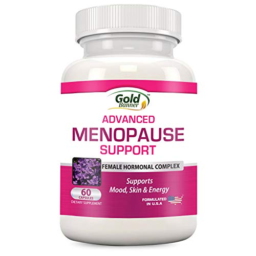 Advanced Menopause Support - Natural Female Hormonal Complex for Hot Flashes, Mood Swings & Vaginal Dryness - Black Cohosh, Soy Isoflavones & Herbal Extract Formula - Does Not Include Hormones - Healthy Estrogen