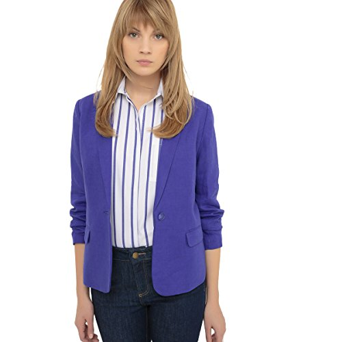 Lino Giacca Redoute Donna Blazer in La OFSzT Collections Blu Royal IZxRAZv