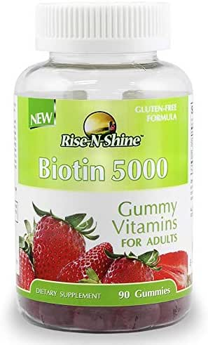 Biotin Adult Gummy Vitamins to Support Hair Growth with 5000 mcg of Biotin for Hair, Skin and Nails 90 Count