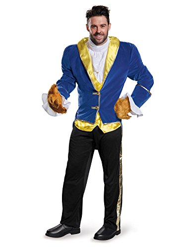 Beauty And The Beast Broadway Costumes Gaston - Disney Disguise Men's Beauty and The Beast Prestige Costume, Blue,