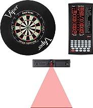 Viper Shot King Bristle Dartboard, Viper ProScore, Viper Dart Laser Line, and Viper Wall Defender