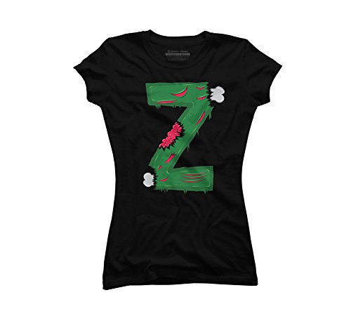 (Z for Zombies Juniors' Small Black Graphic T Shirt - Design By)