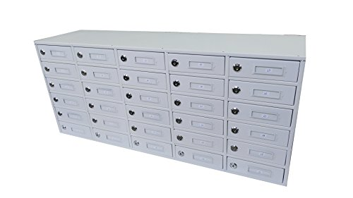 Fixture Displays 30-Slot Cellphone iPad Mini Charging Station Locker Assignment Mail Slot Box 15252 COSMETIC ISSUES - CHIPPED PAINT IN A FEW LOCATIONS. DOES NOT IMPACT FUNCTION. NO RETURN - Mailbox Impact