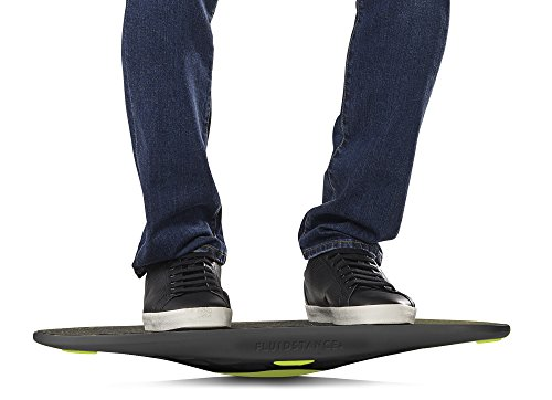 The Plane by FluidStance - Premium Standing Desk Balance Board - Designed to Keep the Body Moving - Improve Balance with Motion Board - Enhance Focus without Disrupting Workflow (Green Flash)