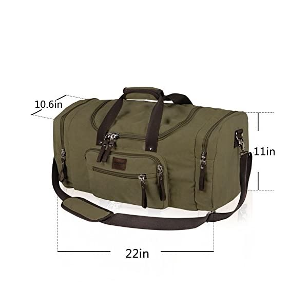 Dream-Hunter-Oversized-Canvas-Travel-Tote-Duffel-Bag-for-Men-Shoulder-Weekender-Overnight-Carry-on-Luggage-Storage-Duffle-Bag