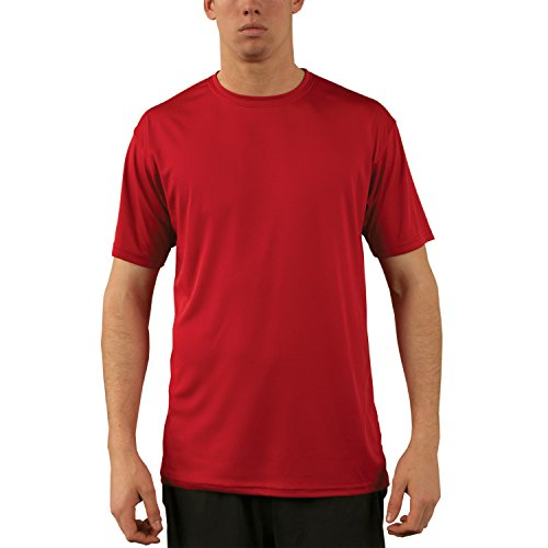 Vapor Apparel Men's UPF 50+ UV Sun Protection Performance Short Sleeve T-Shirt Large Mars Red -
