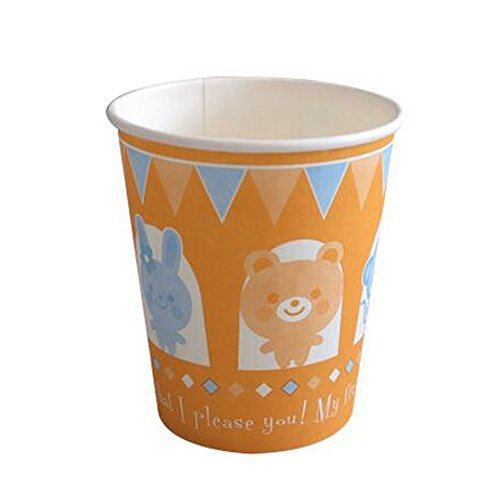 60PCS Animal Pattern Cup Beverages Paper Cup Disposable Paper Cup, B
