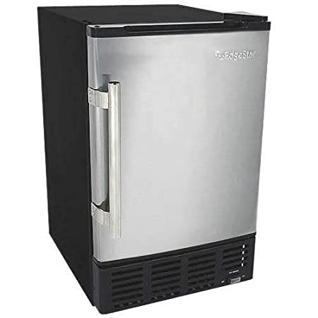 EdgeStar IB120SS Built in Ice Maker, 12 lbs, Stainless Steel and Black