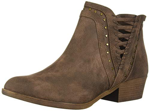 (Sugar Women's Threaded Boho Ankle Woven and Stud Detail Bootie Boot, Brown, 8.5 M US)