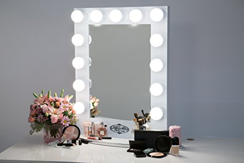 broadway lighted vanity mirror gloss white 11street malaysia cosmetic shaving mirror. Black Bedroom Furniture Sets. Home Design Ideas
