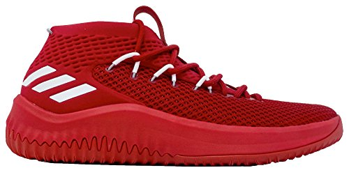 Adidas Dame 4 Scarpa Vittoria Mens Basketball Onice Rosso-bianco-luce