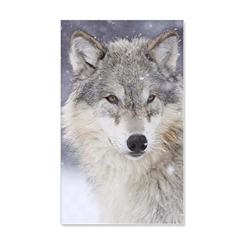 (CafePress - X14 Wolf - 20x12 Wall Decal, Vinyl Wall Peel, Reusable Wall Cling)