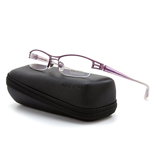 Alain Mikli Eyeglasses AL1106 M00S Lavendar Metal w/ Transluscent Temples