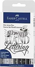 Faber-Castell 267118 - Estuche con 9 Pitt Artist Pen Hand Lettering, Kit de inicio