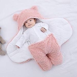 bringbring Newborn Baby Swaddle Blanket, Soft Warm Newborn Baby Receiving Blanket for 0-9 Months, Cute Infant Sheep…