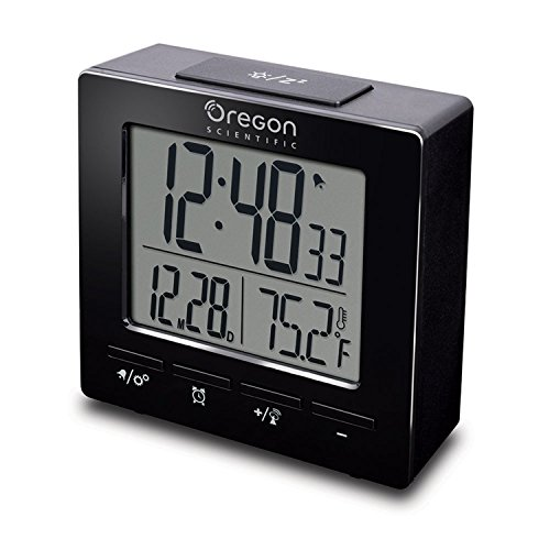 Nature Bird RM511A Alarm Clock Radio-controlled Dual Alarm Clock with Temperature Date Backlight Snooze for Bedroom Office Travel (Atomic Calendar Alarm Clock)