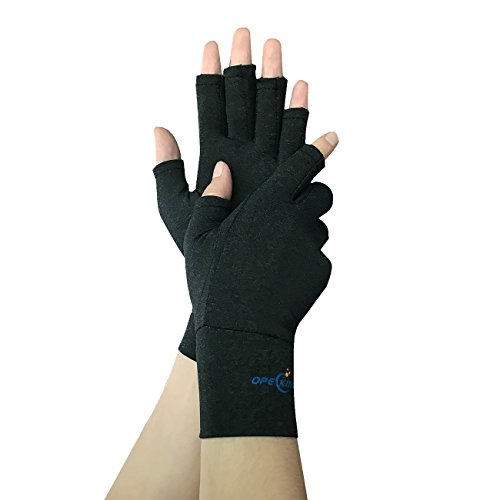 Arthritis Gloves Compression Gloves Wrist Support For Rheumatoid   Osteoarthritis   Hand Gloves Provide Arthritic Joint Pain Symptom Relief   Men   Women  Large