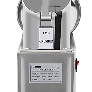 VIVOHOME Electric Ice Crusher Shaver Snow Cone Maker Machine Silver 143lbs for Home and Commerical Use