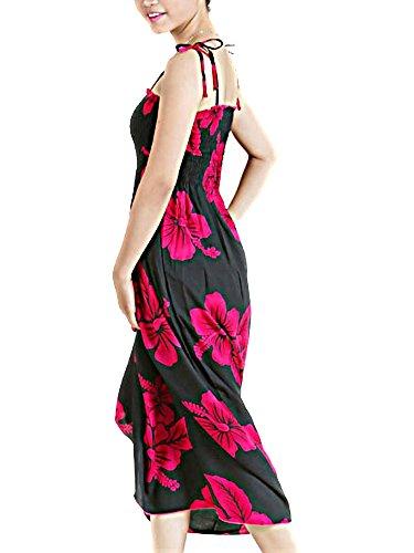 Hawaiian Hibiscus Spaghetti Straps Dress One
