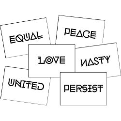 Persist, Women's March, Anti Trump, Resistance, Empowering Words Temporary Tattoo Set - 6 Designs, 12 Tattoos - 50% Bulk Discount