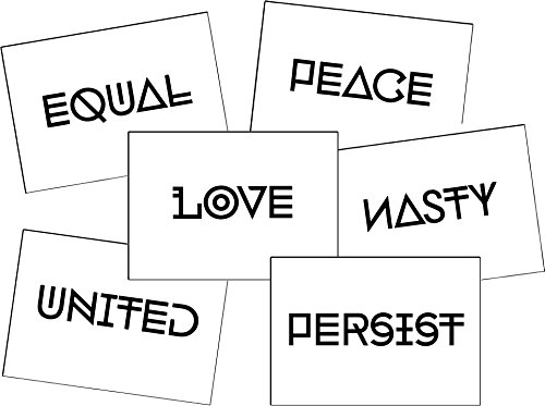 Nasty Woman Equality Tattoo Set Peace Equal Persist Love United Nasty Anti Trump Resist Empowering Words Temporary Tattoo Set  Designs