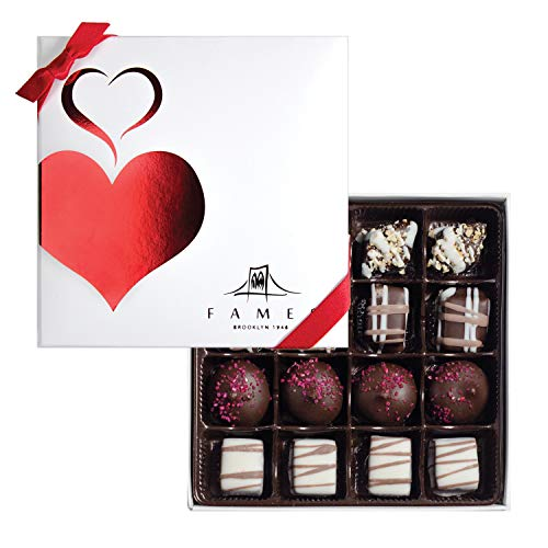 Fames Assorted Chocolate Gift Box - Handcrafted Deluxe Chocolates - Kosher (16 Count) (Artisan Chocolate)