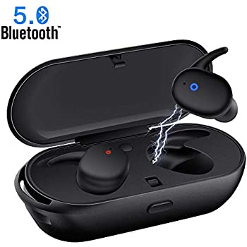 Wireless Earbuds,Upgraded Bluetooth 5.0 Bluetooth Earphones Deep Bass True Wireless Earbuds Stereo Hi-Fi Sound Wireless Headphones with Mic Charging Case ...