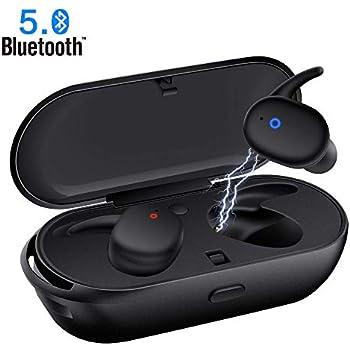 b74e39e3da8 Wireless Earbuds,Upgraded Bluetooth 5.0 Bluetooth Earphones Deep Bass True  Wireless Earbuds Stereo Hi-Fi Sound Wireless Headphones with Mic Charging  Case ...