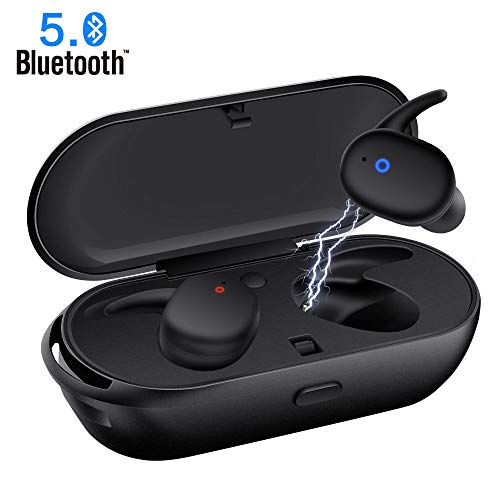 Wireless Earbuds,Upgraded Bluetooth 5.0 Bluetooth Earphones Deep Bass True Wireless Earbuds Stereo Hi-Fi Sound Wireless Headphones with Mic Charging Case Noise Reduction Compatible with iphone Android