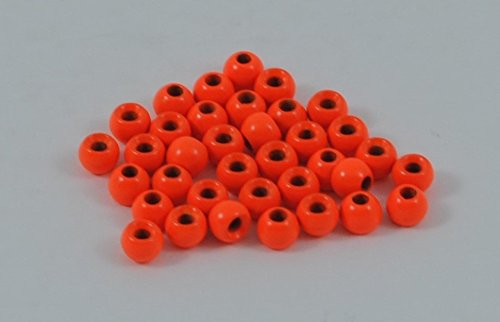 Blue Wing Olive (BWO Brass Beads for Fly Tying - 100 Pack (Fluorescent Orange, 1.5 mm (1/16