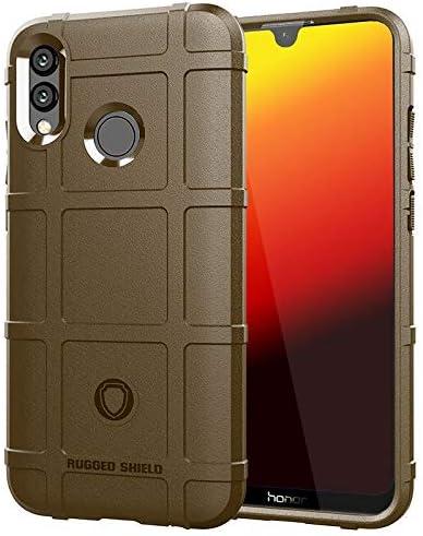 ZASUBC Huawei社Pスマート華為P生意気2019カバーシリコーン落下防止ソフトケースについては2019ロービングシェルの場合 (Color : Brown, Size : Huawei P Smart 2019)