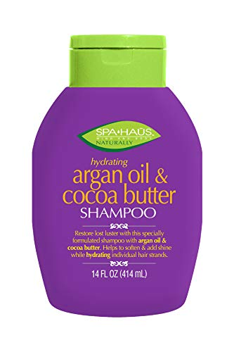 Spa Haus Naturally Shampoo Argan Oil & Cocoa Butter 14 Fluid Ounce