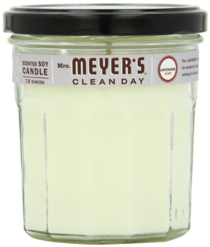 Mrs. Meyer's Clean Day Soy Candle, Lavender, 7.2-Ounce Glass Jars (Pack of 6) (Candle Mrs Lavender Meyers Soy)