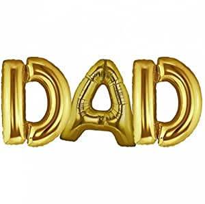 Amazoncom c spin 40 inch dad gold foil letter balloon 40 for Foil letter balloons amazon
