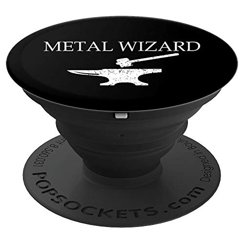 Blacksmith Anvil Forge Gift Forging Metal Wizard Gift - PopSockets Grip and Stand for Phones and Tablets