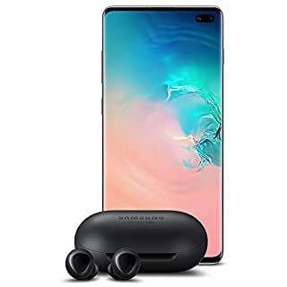Samsung Galaxy S10+ Plus Factory Unlocked Phone with 1TB (U.S. Warranty), Ceramic White w/Galaxy Buds