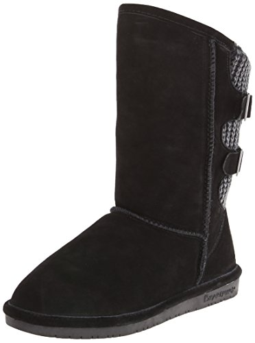 BEARPAW Women's Boshie Winter Boot, Black, 8 M US]()