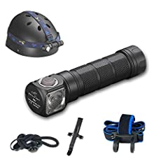 Specifications: LED: CREE XM-L2 U4  Max output: ANSI 1000 Lumens / 1200 LED Lumens  Max runtime: Few months Max beam distance: 123 meters Max peak beam intensity: 3800cd Waterproof: IPX-8 Impact resistant: 1 Meter Battery: 1x18650 , 2x CR123A...