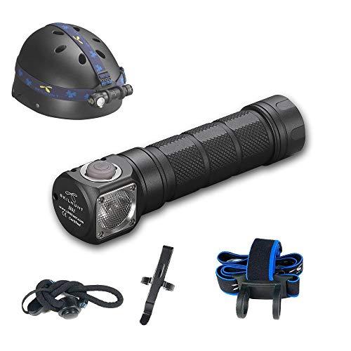 Skilhunt H03 LED Headlamp 18650 EDC Flashlight Max 1200 LED Lumens Waterproof Cree LED Headlight for Outdoor Sports Camping Light FloodLight(Neutral Light)