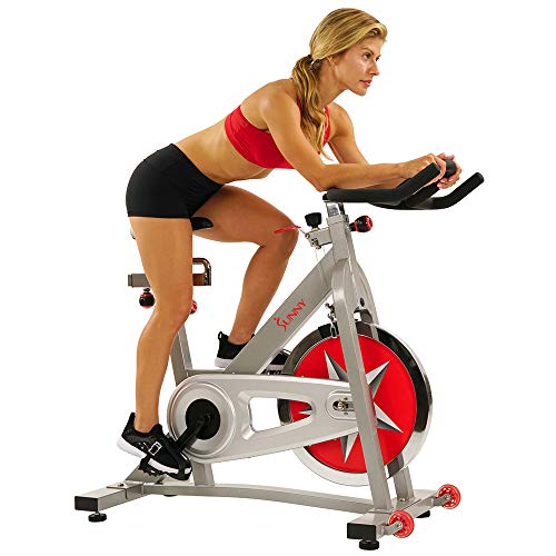 Sunny Health & Fitness Spin Bike Workout Machine Stationary Bike SF-B901 Pro Indoor Cycling Exercise Bike