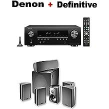 Denon AV Component Receiver (AVRS640H) + Definitive Technology ProCinema 600 5.1 Home Theater Speaker System Bundle