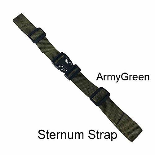 BRONZEMAN Sternum Strap Backpack Chest Harness - Nylon - Adjustable Universal - 6 (ArmyGreen)
