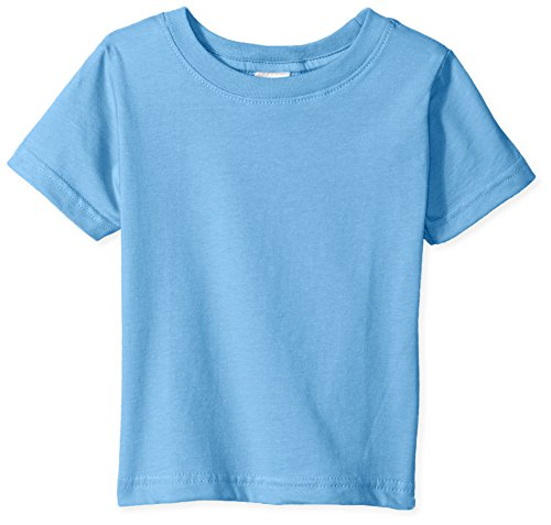 (Clementine Baby Infant Fine Durable Jersey T-Shirt, Carolina Blue, 6MOS)