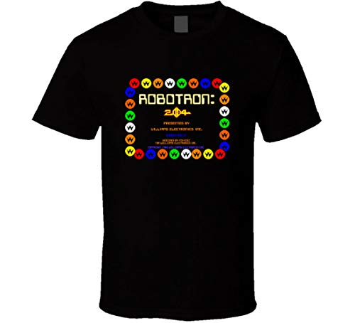 Robotron Start up Screen t-Shirt Cool Retro Video Arcade Game t-Shirts top 20 Retro Games t-Shirts Black ()