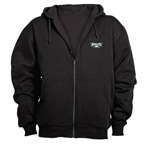 - Dunbrooke NFL Craftsman Full Zip Thermal Hoodie, Philadelphia Eagles - Medium