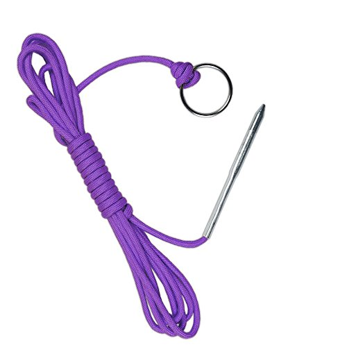 10' 550 LB Paracord Fishing Stringer Fish Holder with Metal Threading Needle & 1