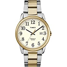 Timex Men's TW2R23500GP Fashion Classics White Dial and Silver and Gold Stainless Steel Bracelet Watch