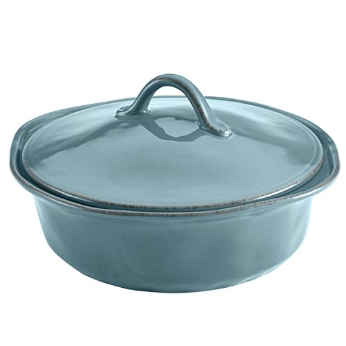 Rachael Ray Cucina Stoneware 3-Piece Round Casserole & Lid Set, Agave Blue by Rachael Ray (Image #3)