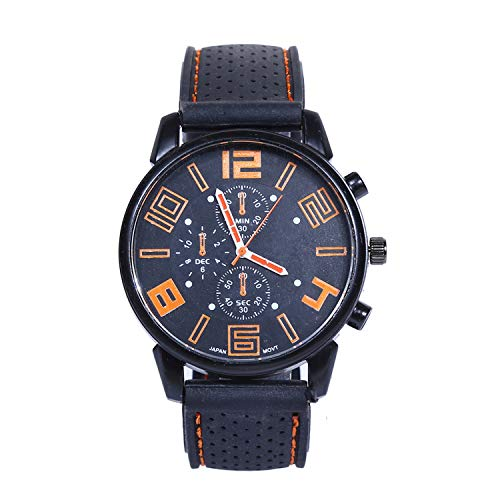 Luxury Round Waterproof Display Calendar Business Man Watch Quartz Movement Sports Wristwatches