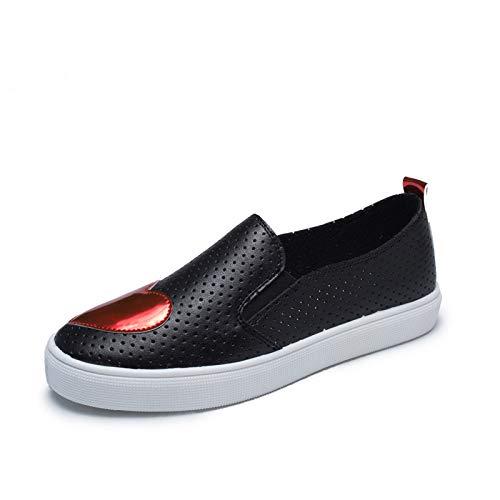 ZHRUI 39 Rouge Noir Chaussures coloré Taille EU rOqnrHXf